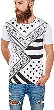Dilaw Longliner T-Shirt Longshirt Allover Print Paisley Oversize Trend O-Neck