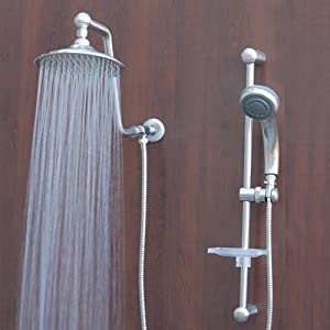 Atlantis 7 Rain Shower Head System Brushed Nickel Beauty