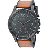 Fossil Q Nate Hybrid Brown Leather and Black Stainless Steel Smartwatch  FTW1114