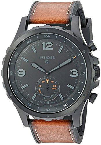 Fossil-Q-Nate-Gen-2-Hybrid-Brown-Leather-Smartwatch