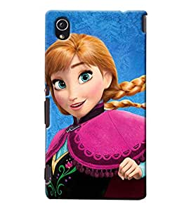 Blue Throat Girl Cartoon Character Printed Designer Back Cover/Case For Sony Xperia M4