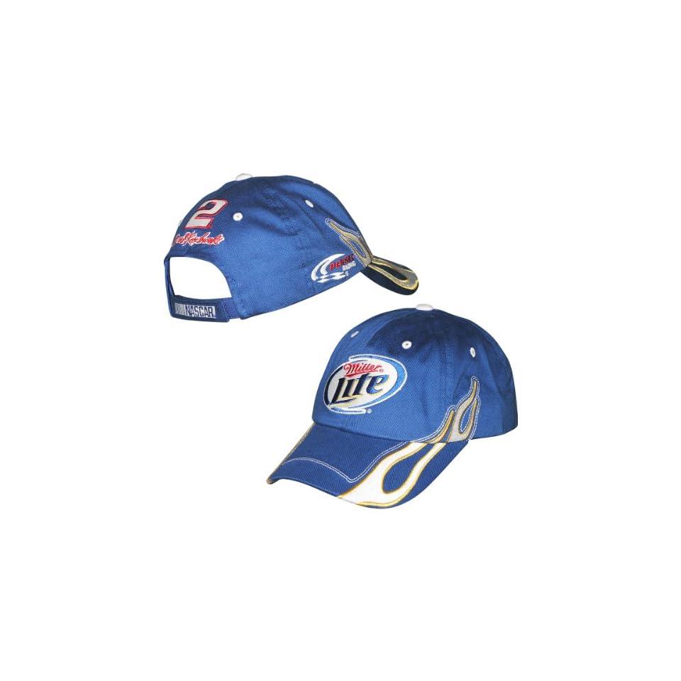27483dc7101 Checkered Flag Brad Keselowski Miller Lite Exhaust Hat Adjustable on ...