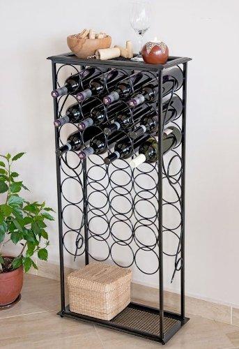 """Weinregal """"Rico"""" 100cm Flaschenständer aus Metall für 28 Flaschen Regal"""