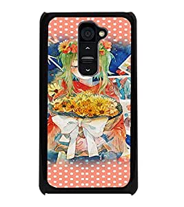PrintDhaba Sad Girl D-2809 Back Case Cover for LG G2 (Multi-Coloured)