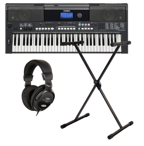 Yamaha PSR E433 Keyboard SET Ständer+ Kopfhörer
