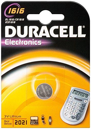 """DURACELL Lot de 3 Piles bouton lithium """"Electronics"""" CR1616 Blister de 1"""