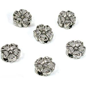 6 Bali Saucer Beads Flower Bead Stringing Beading