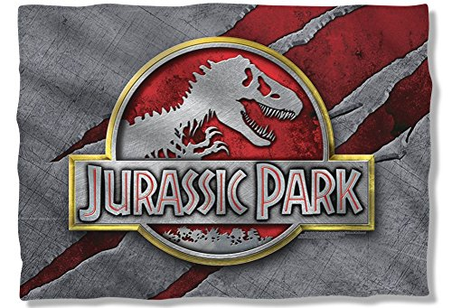 Unique Batman Vs Superman Bedroom Ideas That Rock: TeeShirtPalace Jurassic Park Slash Logo Pillow Case
