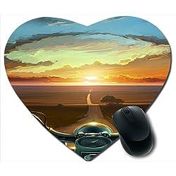 Awwsme Sunshine Desert Heart Mousepad