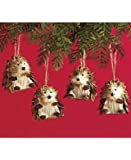 Sets of 4 Woodland Animal Ornaments (Hedgehogs)