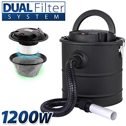 Aschesauger-20L-Kaminsauger-1200W-DUAL-Filter-System-SELLNET-SN2018