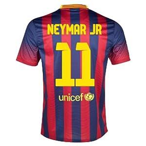 Buy #11 NEYMAR JR Barcelona Home 2013-14 Kid Soccer Jersey & Matching Short Set by World Soccer Maniac