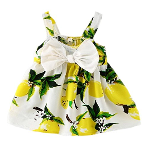YOMIYOKA Baby Girls 6 Months - 3 Years Princess Dress (6 Months, Yellow)