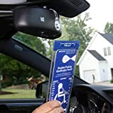"MirorTag Charm by JL Safety- A Novel Way to Protect, Display & Put Away a Handicapped Parking Placard. This Handicap Placard Holder comes with a detachable strong Magnet Charm that will never melt or bend or break in the sun. MAGNETICALLY snap On & Off your placard to a Magnet Charm you mount behind your rearview mirror once. Full protection, and ON and OFF in a snap. Maximum Tag size is 4.125"" W by 10"" L. Fits all mirror posts. Made in USA"