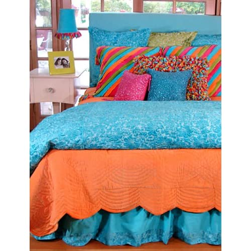 Amazon.com - Caribbean Teen Bedding: Twin Turquoise Jolly