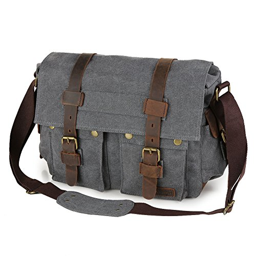Koolertron Canvas Men Women Crossbody School Messenger Shoulder Bag
