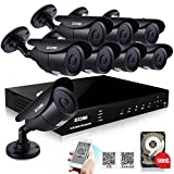 ZOSI 8 CH DVR Home Security System 8PCS 960H 900TV...