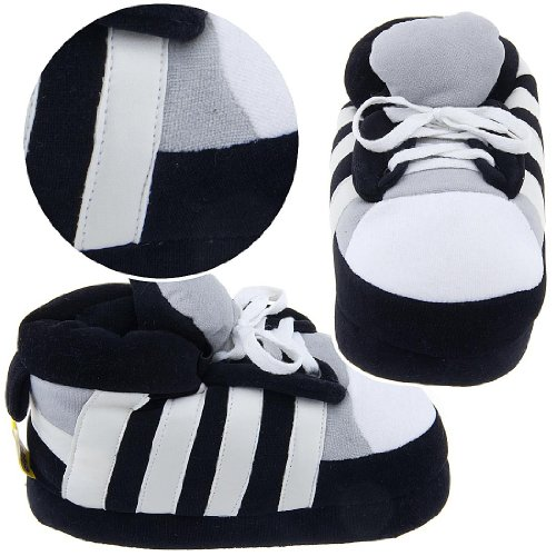 Cheap Black and White Sneaker Slippers for Women (B0077QU118)