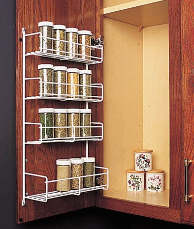 "Feeny 4 Tier Spice Rack 7 3/4"" Wide White"