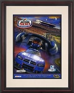 NASCAR Framed 8.5 x 11 Daytona 500 Program Print Race Year: 51st Annual - 2009 by Mounted Memories