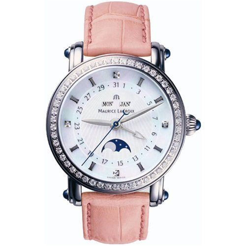 Maurice Lacroix Masterpiece Phase de Lune Dame Stainless Steel Womens Watch mp6066-sd501-17e