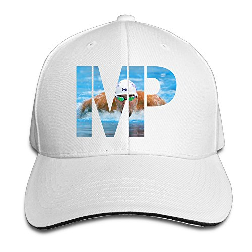 [ACMIRAN MP Michael Phelps Fashion Sun Hat One Size White] (Halo Spartan Suit For Sale)