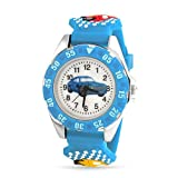 Bling Jewelry Geneva Boys Race Car Driver & Wheels Blue Kids Watch