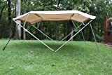 "New Beige/Tan Pontoon / Boat Vortex 4 Bow Bimini Top 8 Long, 85-90"" Wide, 54"" High, Complete Kit, Frame, Canopy, and Hardware"