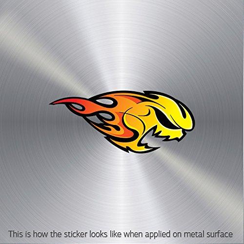 Stickers Skull Speed Racing Flame waterproof Motorbike Action Durable Art h (3 X 1.28 In)