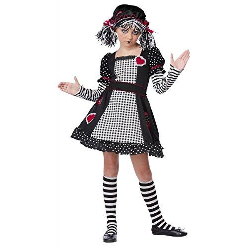 GSG Rag Doll Costume Kids Halloween Fancy Dress (Gothic Rag Doll Costume Plus Size)