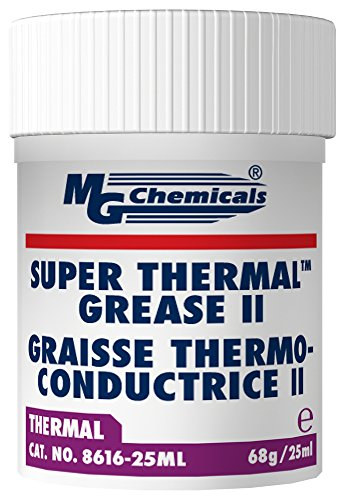 MG Chemicals 8616-25ML Cream Super Thermal Grease II, Silicone Free and Non Bleeding, 1 oz, Jar