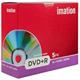 Imation 22902 DVD+R 8x Double Layer 5pk JC