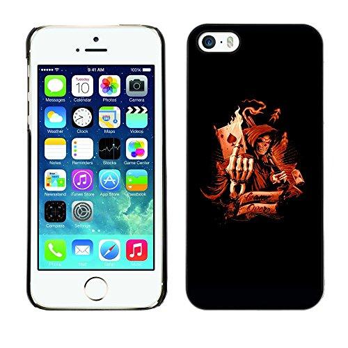 GRECELL CITY GIFT PHONE CASE /// Cellphone Custodia protettiva Caso Dura Cassa Copertura / Hard Case for iPhone 5 / 5S /// Morte Asso di Picche Game Over Death Ace Of Spades Game Over