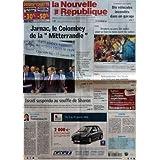 NOUVELLE REPUBLIQUE (LA) [No 18600] du 07/01/2006 - JARNAC LE COLOMBEY DE LA MITTERRANDIE - ISRAEL SUSPENDU AU...