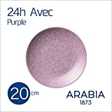 アラビア(ARABIA) 24h Avec(アベック) 100198 プレート 20cm パープル [並行輸入品]