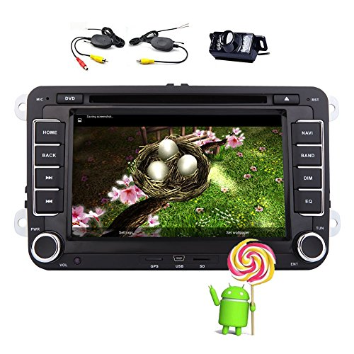 EinCar Specail Android 5.1.1 Lollipop Car DVD Player for Volkswagen in Dash Car Stereo Autoradio Bluetooth with 7 inch Multi touch Screen for 1080P Video Audio Multimedia+ Wireless Rearview Camera (2013 Jetta Bluetooth Module compare prices)