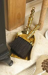 Brass Fireside Brush and Pan / Shovel Set FG1043