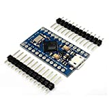 KOOKYE 5PCS Pro Micro ATmega32U4 5V/16MHz Module Board with 2 row pin header for arduino Leonardo Replace ATmega328 Arduino Pro Mini