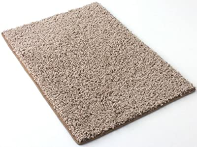 "Beige Area Rug. FRIEZE plush textured CARPET for residential or commercial use. Many sizes and shapes to choose from. Available for home AREA RUGS, runners, rectangle, square, oval and round. Approximately 1/2"" thick with binding."