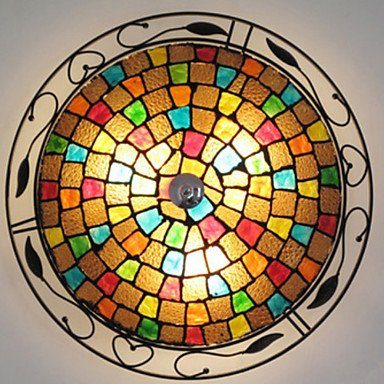60W E27 Glass Flush Mount Light With 3 Lights