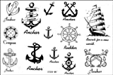 Fashion Temporary Tattoo Watertight anchor nautical fake tattoos