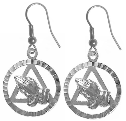 Alcoholics Anonymous Recovery Symbol Earrings #707-6, 11/16