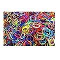 1800 �lastiques et s-attaches multicolores en latex Twistz Bandz