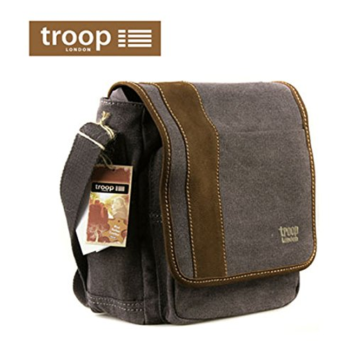 new-troop-london-trp-0307-unisex-casual-shoulder-bag-canvas-leather-travel-bag