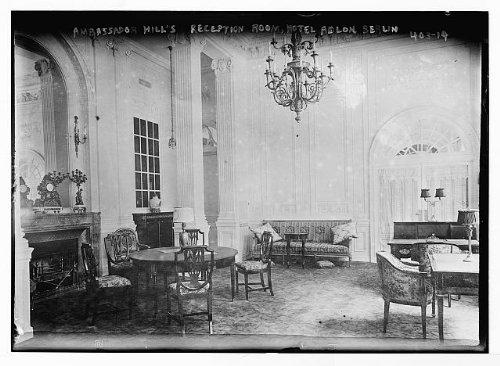 Photo Reception room of Ambassador Hill in Hotel Adlon, Berlin 1900