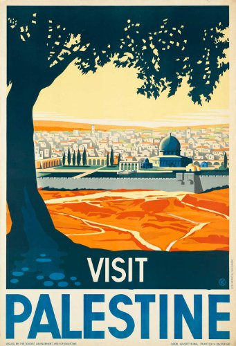 Vintage Travel PALESTINE 250gsm Gloss ART CARD A3 Reproduction Poster