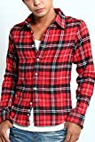 インプローブス imp ネルシャツ チェックシャツ カジュアルシャツ D サイズM