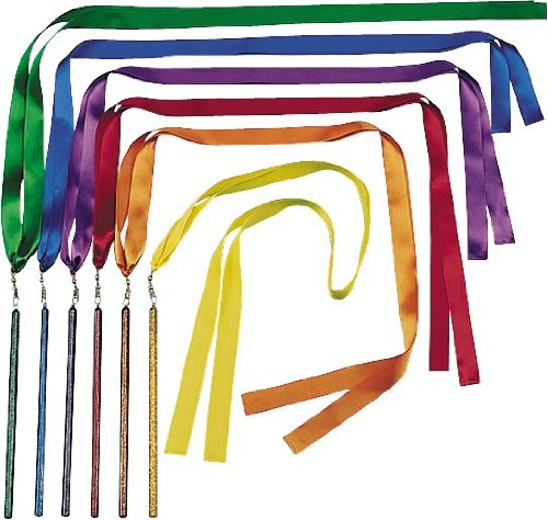 US Games Color My Class Ribbon Wand Set, 3-Feet