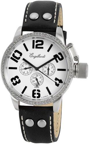 Engelhardt - 387722129012 - Montre Femme - Automatique - Analogique - Bracelet Cuir Noir