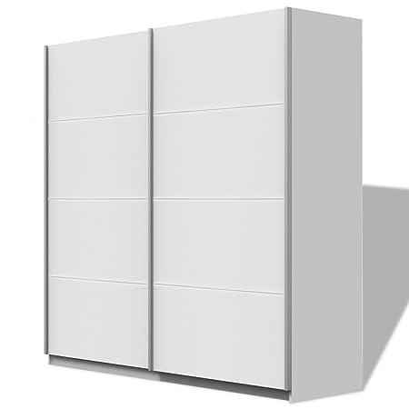 vidaXL Kleiderschrank Veranstalter Kleidung Aufbewahrung 2Schiebetur Hochglanz 150/200cm 2Farben 200 cm matt weiß